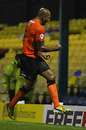 Picture by David Horn/Focus Images Ltd +44 7545 970036<br /> 13/09/2013<br /> Chris Iwelumo of Southend United clebrates scoring the winning goal during the Sky Bet League 2 match at Roots Hall, Southend.
