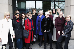 © Licensed to London News Pictures. 31/01/2018. London, UK. Ahead of the arrival of journalist and Former China editor for BBC News, CARRIE GRACIE, BBC presenters come to lend support at Portcullis House in London before she gives evidence to the Digital, Culture, Media and Sport Committee on the ongoing row over equal pay at the BBC. A recent review found 'no gender bias in on-air pay decisions' at the BBC, however, the same report found a found a 6. 8% gender pay gap among on-air staff. Photo credit: Peter Macdiarmid/LNP