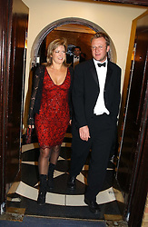 TV presenter PENNY SMITH and  JASON McCUE at the 2004 Whitbread Book Awards held at The Brewery, Chiswell Street, London EC1 on 25th January 2005.<br />