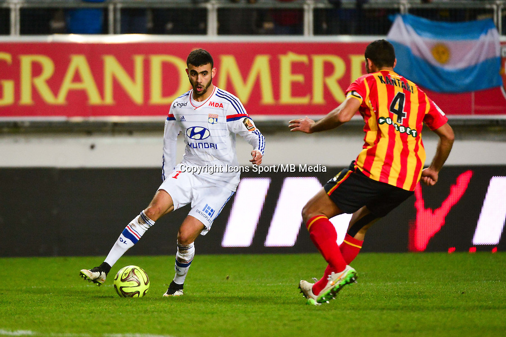 Rachid GHEZZAL / Ahmed KANTARI - 17.01.2015 - Lens / Lyon - 21eme journee Ligue 1<br />Photo : Dave Winter / Icon Sport