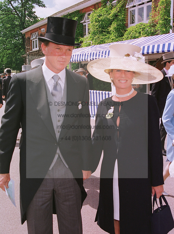 American multi millionaire MR BROOK JOHNSON and MRS SALLY FABER the former wife of MP David Faber, at Royal Ascot on 15th June 1999.MTG 97
