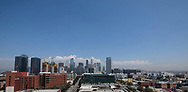Clouds are seen behind the Los Angeles skyline on Wednesday, August 30, 2017, in Los Angeles.  ``The combination of strong high pressure and weak onshore flow will continue to produce dangerously hot temperatures across the region through at least the end of the week and possibly into the labor day weekend,'' according to a National Weather Service statement, which predicted more heat records a day after a few were set.(Photo by Ringo Chiu)<br /> <br /> Usage Notes: This content is intended for editorial use only. For other uses, additional clearances may be required.