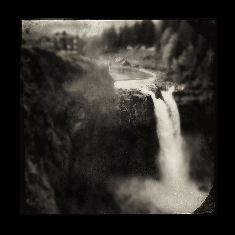 "Charles Blackburn Instagram image of Snoqualmie Falls in Washington state. 5x5"" print."