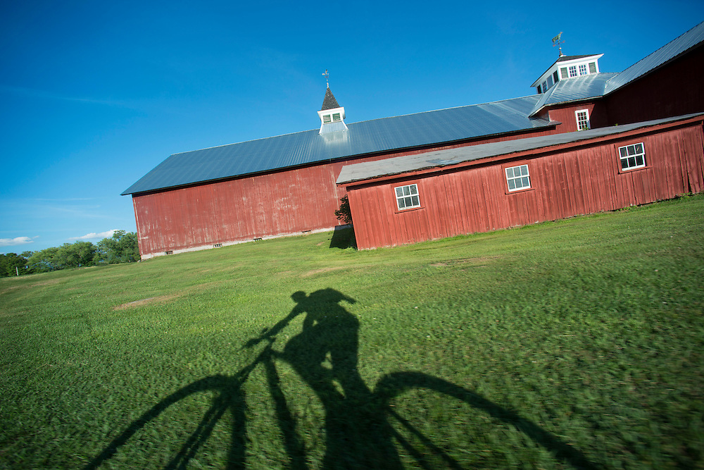 Mountain biking the Kingdom Trails in East Burke, Vermont. For the New York Times