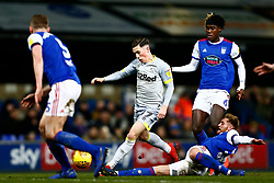 Teddy Bishop of Ipswich Town makes a tackle Harry Wilson of Derby County - Mandatory by-line: Phil Chaplin/JMP - 13/02/2019 - FOOTBALL - Portman Road - Ipswich, England - Ipswich Town v Derby County - Sky Bet Championship