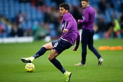 West Ham United midfielder Pablo Fornals (18) warming up during the Premier League match between Burnley and West Ham United at Turf Moor, Burnley, England on 9 November 2019.