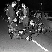 NLD/Hilversum/19921012 - Arrestatie van een persoon Hilversumse Meent gewapend met een pistool en handgranaat