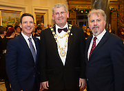 Dan Murphy Galway Bay Hotel, Salthill , Cllr Frank Fahy Mayor of Galway and Ronan Scully  Gorta Self Help Africa  at the Gorta Self Help Africa Annual Ball at the Galway Bay Hotel, Salthill Galway.<br /> Photo:Andrew Downes, xposure.