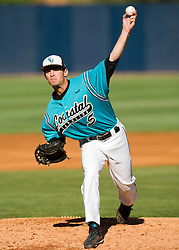 Coastal Carolina pitcher Cody Wheeler (5).  The #24 ranked Virginia Cavaliers baseball team faced the Coastal Carolina Chanticleers at the University of Virginia's Davenport Field in Charlottesville, VA on April 15, 2008.