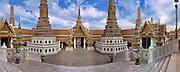 Wat Phra Kaew,  Royal Grand Palace, Bangkok, Thailand, Panorama CGI Backgrounds, ,Beautiful Background