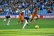 Fernando Forestieri of Sheffield Wednesday scores from penalty spot to make it 1-1  during the Sky Bet Championship match between Sheffield Wednesday and Wolverhampton Wanderers at Hillsborough, Sheffield, England on 20 December 2015. Photo by Ian Lyall.