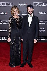 Celebrities walk the red carpet for the 'Rogue One: A Star Wars Story' world premiere held at the Pantages Theatre in Hollywood. 10 Dec 2016 Pictured: Will Wheaton, Anne Wheaton. Photo credit: American Foto Features / MEGA TheMegaAgency.com +1 888 505 6342