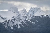 Hozomeen Mountain in winter. Seen from Gibson Pass, Manning Provincial Park