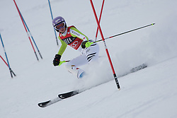 21.12.2010, Stade Emile Allais, Courchevel, FRA, FIS World Cup Ski Alpin, Ladies, Slalom, im Bild Maria Riesch (GER) skis out whilst competing in the FIS Alpine skiing World Cup ladies slalom race in Courchevel 1850, France. EXPA Pictures © 2010, PhotoCredit: EXPA/ M. Gunn