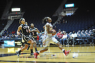 "Ole Miss' Bretta Hart (24) scores against Christian Brothers  in an exhibition basketball game at the C.M. ""Tad"" Smith Coliseum in Oxford, Miss. on Friday, November 7, 2014. (AP Photo/Oxford Eagle, Bruce Newman)"