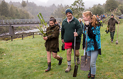 The Owhango Alive community conservation group celebrates World Rivers Day with a public tree planting on the banks of the Whakapapa River, Ruapehu,  New Zealand, Sunday September 2017. Credit:SNPA / Malcolm Pullman *NO ARCHIVING*