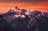Alpenglow on Mount Shuksan, 9,131 ft (2,783 m) North Cascades washington