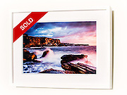 Morning Majesty, Coogee &ndash; Ex exhibition work. One only available. 12x18&rdquo; signed print on Fujicolor Pearl metallic paper. Mounted on 2mm aluminium composite. White box frame with white mattboard, UV acrylic &amp; D-ring hangers. Outside frame dimensions 470 x 625 x 38mm. Clearance price $195 incl GST &amp; free delivery in Sydney metro area only. <br /> <br /> Inspection can be arranged before purchase in Sydney metro area.<br /> <br /> Order by email to orders@GirtBySeaPhotography.com<br /> <br /> Link to original image:<br /> http://girtbyseaphotography.photoshelter.com/gallery-image/Coogee/G00008s4IqTixvAQ/I0000gIE3zeIABHY/C0000vTXfzDGo.Ko