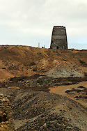 Parys Mountain (Mynydd Trysglwyn) copper mine, Anglesey Wales. First mined in the  Bronze Age extraction was at its peak in the 18th & 19th centuries. ....