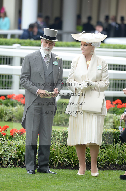 PRINCE MICHAEL OF KENT and PRINCESS MICHAEL OF KENT at Day 1 of the 2013 Royal Ascot Racing Festival at Ascot Racecourse, Ascot, Berkshire on 18th June 2013.