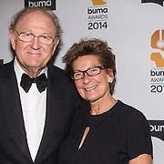 NLD/Hilversum//20140318 - Inloop Buma Awards 2014, Joop van den ende en partner Janine