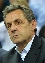 File photo - Nicolas Sarkozy, former French president and head of the French right-wing opposition UMP party,at the UCI Track Cycling World Championships in Saint-Quentin-en-Yvelines, near Paris, France on February 22, 2015. A French judge has ordered ex-President Nicolas Sarkozy to stand trial in an illegal campaign finance case. Mr Sarkozy faces accusations that his party falsified accounts in order to hide 18m euros of campaign spending in 2012. Mr Sarkozy denies he was aware of the overspending, and will appeal against the order to stand trial. Photo by Christian Liewig/ABACAPRESS.COM