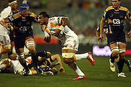 Liam Messam on the run.Super 14 rugby union match, Brumbies v Cheifs, Canberra, Australia. Saturday 19 February 2011. Photo: Paul Seiser/PHOTOSPORT.../SPORTZPICS
