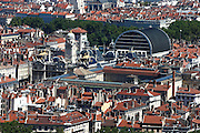 The rooftops of Lyon seen from the Basilica of Notre-Dame de Fourvière