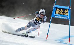 TVIBERG Maria Therese of Norway competes during the Ladies' GiantSlalom at 56th Golden Fox event at Audi FIS Ski World Cup 2019/20, on February 15, 2020 in Podkoren, Kranjska Gora, Slovenia. Photo by Matic Ritonja / Sportida