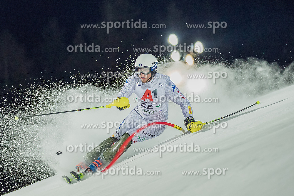 "29.01.2019, Planai, Schladming, AUT, FIS Weltcup Ski Alpin, Slalom, Herren, 1. Lauf, im Bild Giuliano Razzoli (ITA) // Giuliano Razzoli of Italy in action during his 1st run of men's Slalom ""the Nightrace"" of FIS ski alpine world cup at the Planai in Schladming, Austria on 2019/01/29. EXPA Pictures © 2019, PhotoCredit: EXPA/ Dominik Angerer"