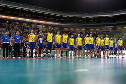 Players of Brazil during friendly volleyball match between national teams of Slovenia and Brasil in Arena Stozice on 9. September 2015 in , Ljubljana, Slovenia. Photo by Matic Klansek Velej / Sportida