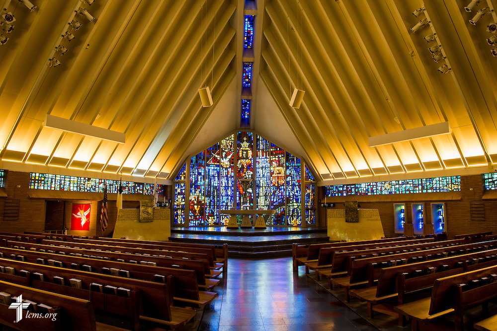 Interior photograph in the Chapel of the Holy Trinity at Concordia University Ann Arbor on Thursday, July 3, 2014, in Ann Arbor, Mich. LCMS Communications/Erik M. Lunsford