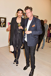 Percy Parker and Ophilia Aasa at a preview of the 'From Selfie To Self-Expression' exhibition at The Saatchi Gallery, Duke Of York's HQ, King's Road, London, England. 30 March 2017.