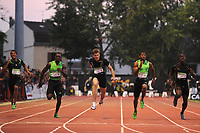 ATHLETICS - MEETING LNA 2011 - MEETING DE MONTREUIL SOUS BOIS (FRA) -  07/06/2010 - PHOTO : STEPHANE KEMPINAIRE / DPPI <br /> 100 M - CHRISTOPHE LEMAITRE (FRA) - NEW FRENCH RECORD - 9,96