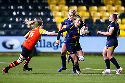 Carys Cox of Worcester Warriors Women takes on Zoe Barber of Richmond Women - Mandatory by-line: Robbie Stephenson/JMP - 11/01/2020 - RUGBY - Sixways Stadium - Worcester, England - Worcester Warriors Women v Richmond Women - Tyrrells Premier 15s
