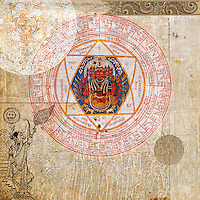 Multi-cultural yoga symbols.<br /> <br /> :::::::::::::::::::::::::::::::::::::::::::::::::::::::::::::::::::<br /> &quot;In yoga, life and consciousness are known as prakriti and purusha; in tantra they are known as Shakti and Shiva. In hatha yoga they are called ida and pingala; in taoism, yin and yang, and in physics, matter and energy.&quot;<br /> -Swami Muktibodhananda (Hatha Yoga Pradipika pg 8)