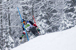 Bisqueritt Hudson Nicolas of Chile during Slalom race at 2019 World Para Alpine Skiing Championship, on January 23, 2019 in Kranjska Gora, Slovenia. Photo by Matic Ritonja / Sportida