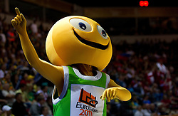 Mascot Ameris during basketball match between National teams of Georgia and Russia in Group D of Preliminary Round of Eurobasket Lithuania 2011, on September 1, 2011, in Arena Svyturio, Klaipeda, Lithuania. (Photo by Vid Ponikvar / Sportida)