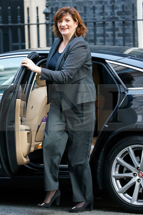 © Licensed to London News Pictures. 13/10/2015. London, UK. Education Secretary NICKY MORGAN attending to a cabinet meeting in Downing Street on Tuesday, 13 October 2015. Photo credit: Tolga Akmen/LNP