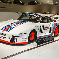 The 1977 Porsche 935-2.0 'Baby' developed an astonishing 380bhp from a 1.4-litre turbocharged flat-six engine, here at the Porsche Museum in Stuttgart (2010)