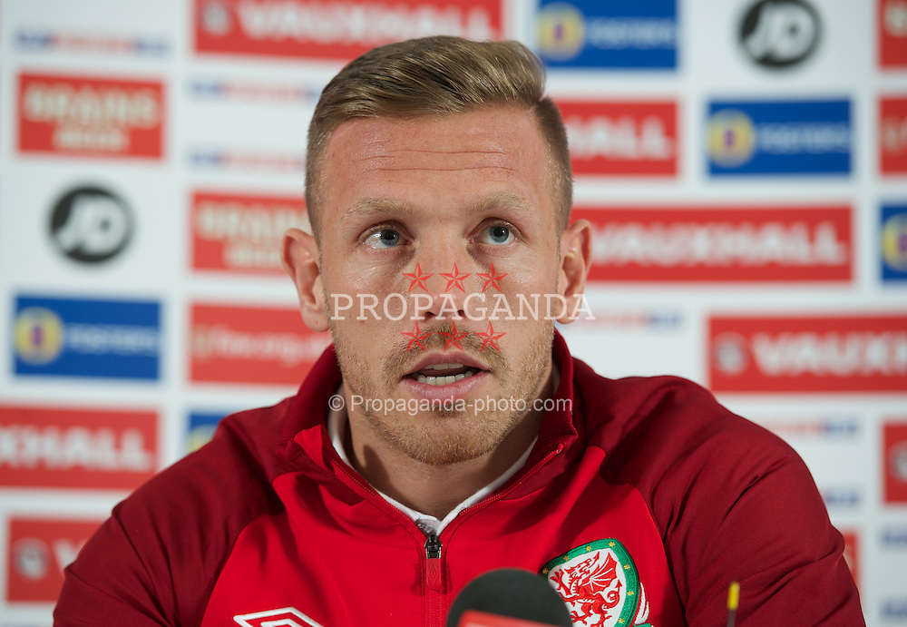 CARDIFF, WALES - Monday, February 4, 2013: Wales' Craig Bellamy during a press conference at the St. David's Hotel ahead of the International Friendly against Austria. (Pic by David Rawcliffe/Propaganda)