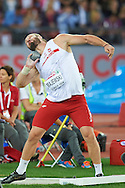 Tomasz Majewski of Poland competes in men's shot put final during the First Day of the European Athletics Championships Zurich 2014 at Letzigrund Stadium in Zurich, Switzerland.<br /> <br /> Switzerland, Zurich, August 12, 2014<br /> <br /> Picture also available in RAW (NEF) or TIFF format on special request.<br /> <br /> For editorial use only. Any commercial or promotional use requires permission.<br /> <br /> Photo by © Adam Nurkiewicz / Mediasport
