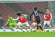 GOAL 1-2 Eintracht Frankfurt midfielder Daichi Kamada (15) scores during the Europa League match between Arsenal and Eintracht Frankfurt at the Emirates Stadium, London, England on 28 November 2019.