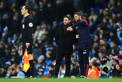 Bristol City head coach Lee Johnson talks with assistant coach Jamie McAllister  - Mandatory by-line: Matt McNulty/JMP - 09/01/2018 - FOOTBALL - Etihad Stadium - Manchester, England - Manchester City v Bristol City - Carabao Cup Semi-Final First Leg