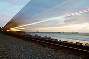 Amtrak Train Traveling Through San Clemente