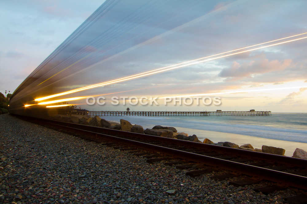 Amtrak Train Traveling Through San Clemente