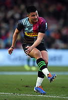 Rugby Union - 2019 / 2020 Gallagher Premiership - Harlequins vs. Gloucester<br /> <br /> Harlequins' Marcus Smith converts Ross Chisholm's try, at The Stoop.<br /> <br /> COLORSPORT/ASHLEY WESTERN