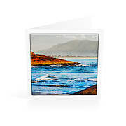 Photo Art Greeting Card | South West Rocks Collection | Main Beach view to Mt Yarrahapinni | Printed on lightly textured matte art paper stock, blank inside. White envelope included, packaged in sealed poly bag. Dimensions: Card 123 x 123mm. Envelope 130 x 130mm.<br />
