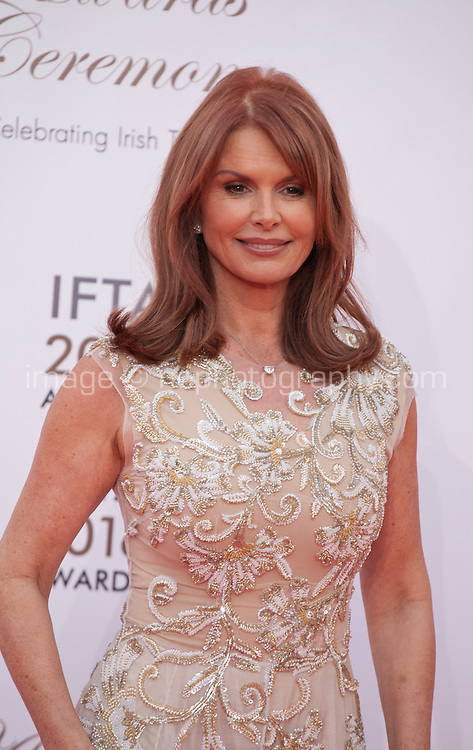 Actress Roma Downey at the IFTA Film & Drama Awards (The Irish Film & Television Academy) at the Mansion House in Dublin, Ireland, Saturday 9th April 2016. Photographer: Doreen Kennedy