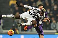 Paul Pogba Juventus, Milan Badelj Fiorentina <br /> Torino 13-12-2015, Juventus Stadium, Football Calcio 2015/2016 Serie A, Juventus - Fiorentina, Foto Image Sport/Insidefoto